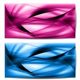 Abstract colored wave on background Stock Photography
