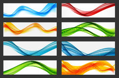 Abstract Colored Wave Header Background Set. Vector Illustration Royalty Free Stock Photography