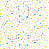 Abstract colorfool confetti seamless background Stock Image