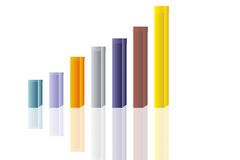 Abstract colorful 3D chart Royalty Free Stock Image