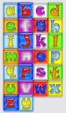 Abstract Colorful Alphabet Set Stock Images