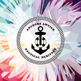 Abstract colorful anchor navy nautical theme. Illustration Royalty Free Illustration