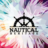 Abstract colorful anchor navy nautical theme. Illustration Stock Illustration