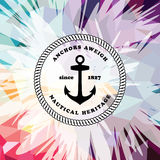 Abstract colorful anchor navy nautical theme. Illustration Vector Illustration
