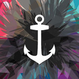 Abstract colorful anchor navy nautical theme. Vector illustration Royalty Free Illustration