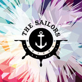Abstract colorful anchor navy nautical theme. Vector illustration Vector Illustration