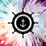 Abstract colorful anchor navy nautical theme. Vector illustration Stock Illustration