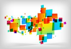 Abstract colorful arrow background Stock Images