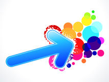 Abstract colorful arrow background Stock Photography