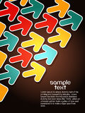 Abstract colorful arrow background Stock Photo