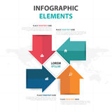 Abstract colorful arrow business Infographics elements, presentation template flat design vector illustration for web design Stock Image