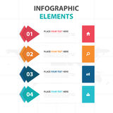 Abstract colorful arrow business timeline Infographics elements, presentation template flat design vector illustration for web. Design marketing advertising Stock Images