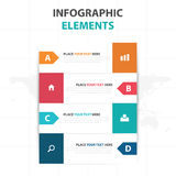 Abstract colorful arrow business timeline Infographics elements, presentation template flat design vector illustration for web Royalty Free Stock Images