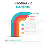 Abstract colorful arrow business timeline Infographics elements, presentation template flat design vector illustration for web Royalty Free Stock Photo
