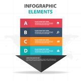 Abstract colorful arrow business timeline Infographics elements, presentation template flat design vector illustration for web Stock Photos