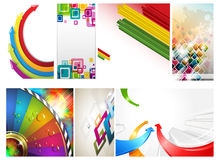 Abstract colorful  arrow and cube background Royalty Free Stock Photography