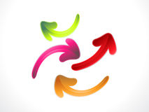 Abstract colorful arrow icons Stock Images