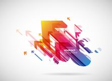 Abstract colorful arrows background wallpaper stock illustration