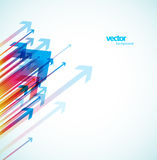 Abstract colorful arrows background wallpaper. Royalty Free Stock Photo