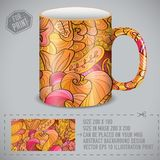 Abstract colorful art design for print on a cup. Vector illustration concept.  vector illustration