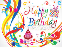 Abstract colorful artistic birthday. Vector illustratioin Royalty Free Stock Images