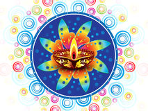 Abstract colorful artistic diwali  background Royalty Free Stock Photo