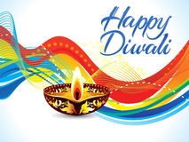 Abstract colorful artistic diwali wave background Stock Photography