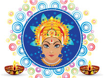 Abstract colorful artistic durga background Stock Photography