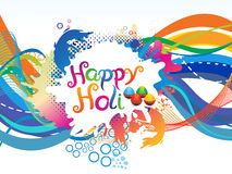 Abstract colorful artistic holi background. Vector illustration Royalty Free Stock Photography