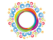Abstract colorful artistic rainbow circle explode. Vector illustration Stock Illustration