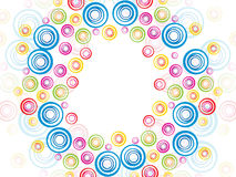 Abstract colorful artistic rainbow circle Stock Photos