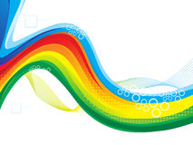 Abstract colorful artistic rainbow wave Stock Image