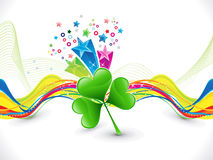Abstract colorful artistic st patrick background Stock Images