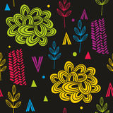 Abstract and colorful autumn seamless pattern. Stock Photography