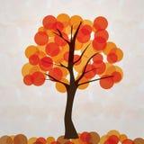 Autumn Background. Abstract Colorful Autumn Tree Design - Vector Background Illustration Stock Illustration