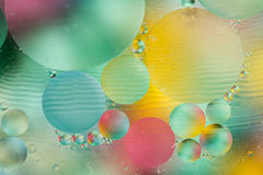 Abstract colorful backdrop with oil drops Stock Images