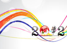 Abstract colorful backgorund 2012. Illustration royalty free illustration