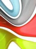 Abstract colorful background. Bands of bright colors forming a colorful abstract background Vector Illustration