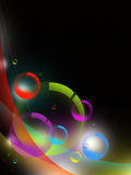Abstract colorful background. With colorfull orbs Stock Image