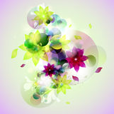 Abstract colorful background. Abstract composition with geometric elements stock illustration