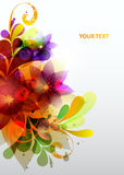 Abstract colorful background. Abstract composition with geometric elements royalty free illustration