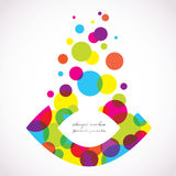 Abstract colorful background. Abstract  background created with Illustrator Stock Photography