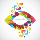 Abstract colorful background. Abstract  background created with Illustrator Stock Images