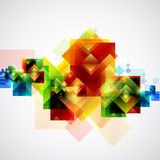 Abstract colorful background. Abstract background of colored squares royalty free illustration