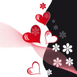 Abstract colorful background. Abstract love colorful background with flowers vector illustration