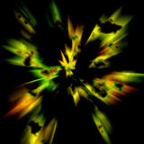 Abstract colorful background. Abstract background with clouds or flashes of yellow, green and orange on black Stock Illustration