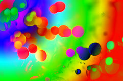 Abstract colorful background. Bright abstract background with large colorful spots and dark background Stock Photography