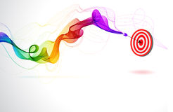 Abstract colorful background with Arrow Stock Photo