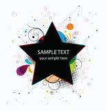 Abstract colorful background banner star Stock Photo