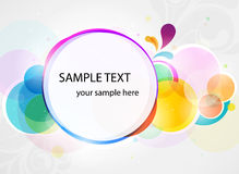 Abstract colorful background banner in vector Royalty Free Stock Photography